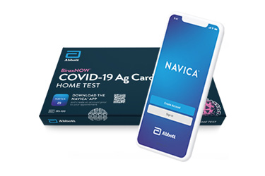 BinaxNOW COVID-19 Ag Card Home Test and Navica App